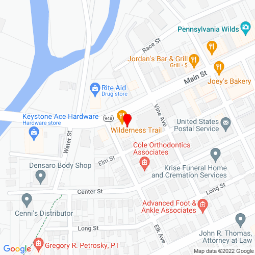 Map of Ridgway, PA
