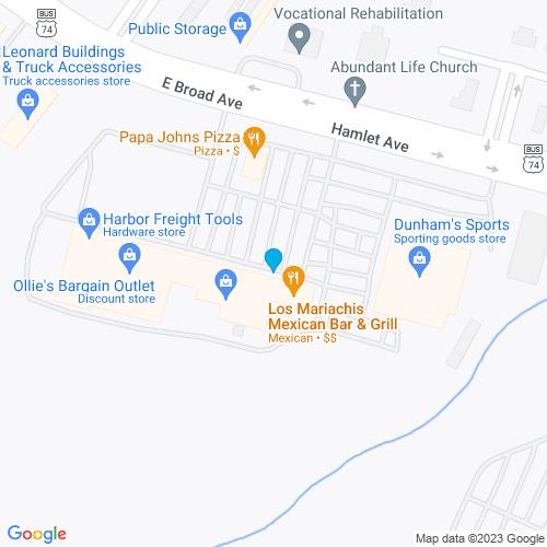 Map of Rockingham, NC