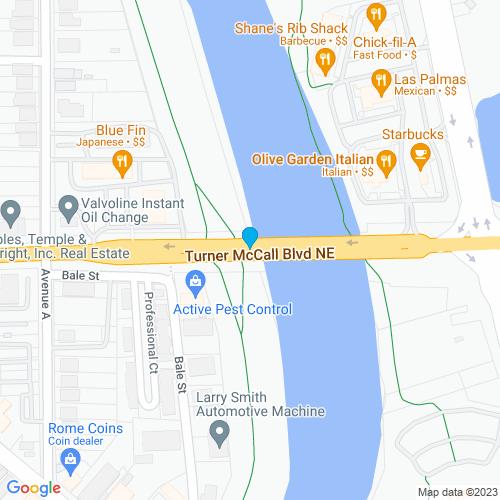 Map of Rome, GA
