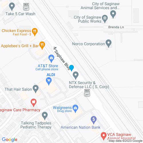 Map of Saginaw, TX