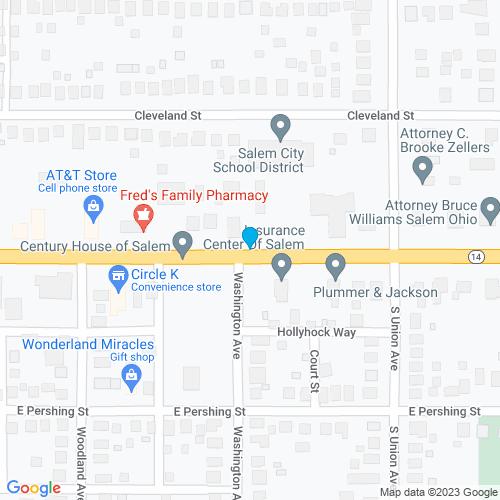 Map of Salem, OH