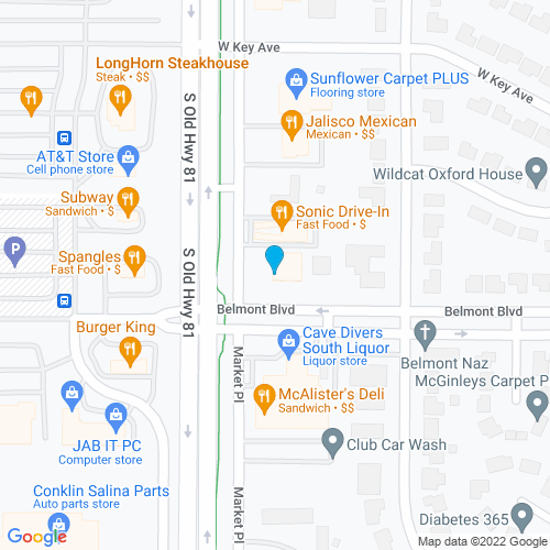 Map of Salina, KS