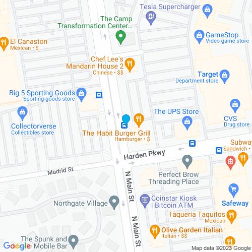 Map of Salinas, CA