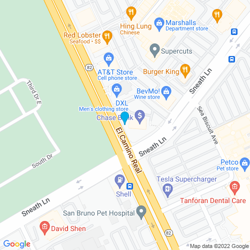 Map of San Bruno, CA