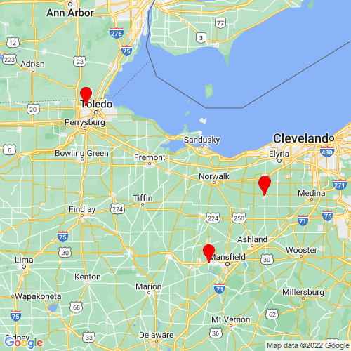 Map of Sandusky, OH