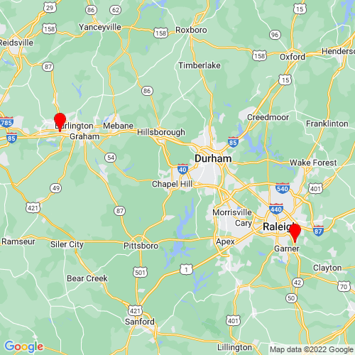 Map of Sanford, NC