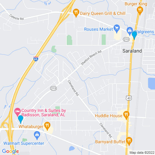 Map of Saraland, AL