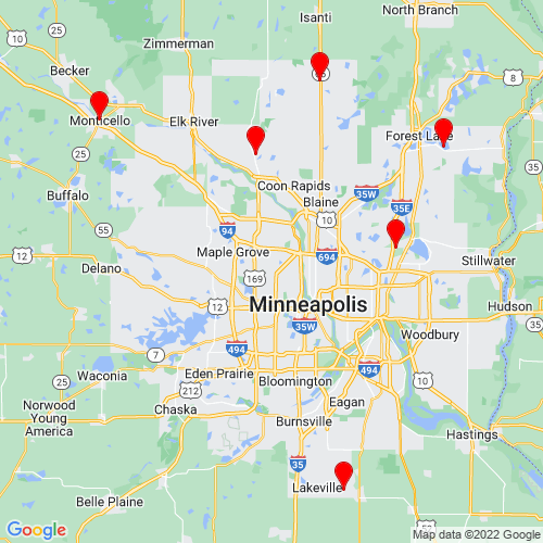 Map of Scandia, MN