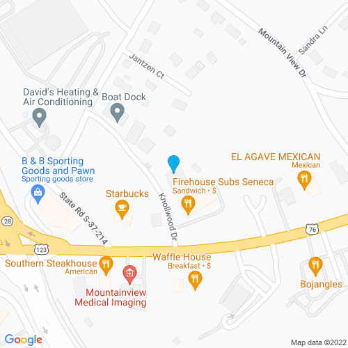 Map of Seneca, SC