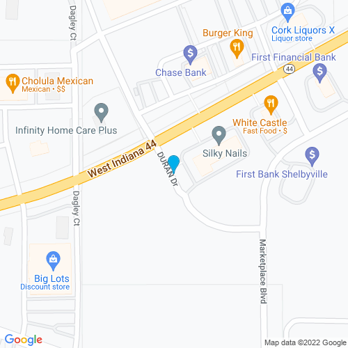 Map of Shelbyville, IN