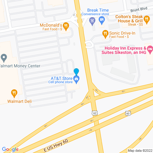 Map of Sikeston, MO