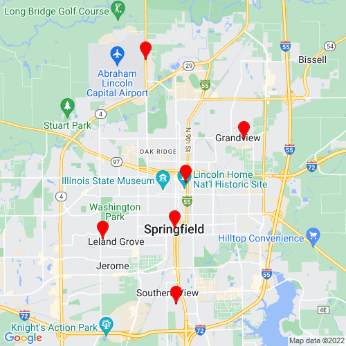 Map of Springfield, IL