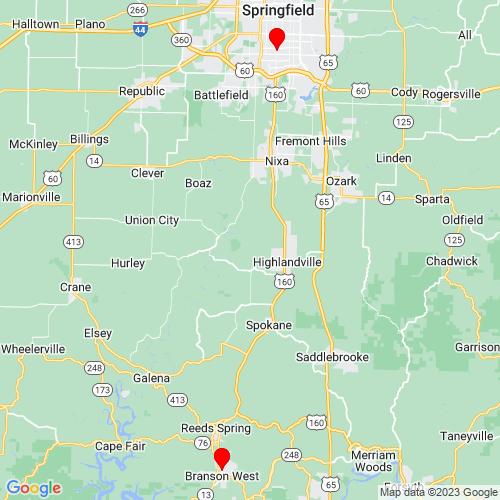 Map of Springfield, MO