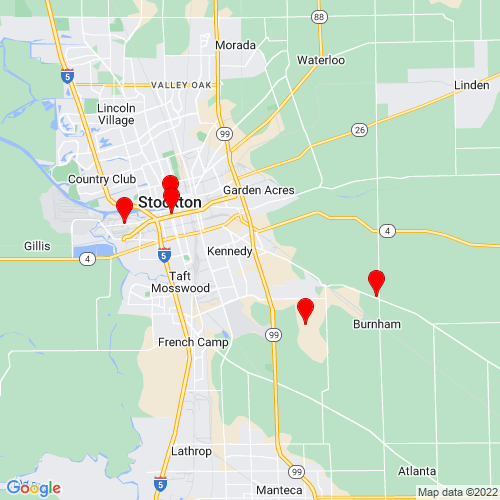 Map of Stockton, CA