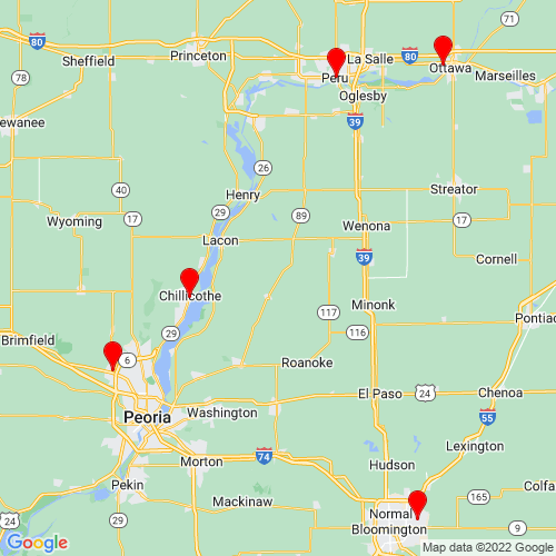 Map of Streator, IL