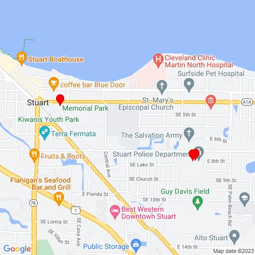 Map of Stuart, FL