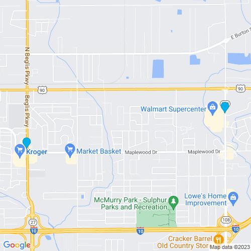 Map of Sulphur, LA