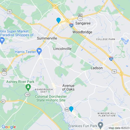 Map of Summerville, SC