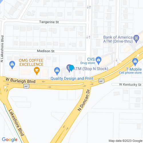 Map of Tavares, FL