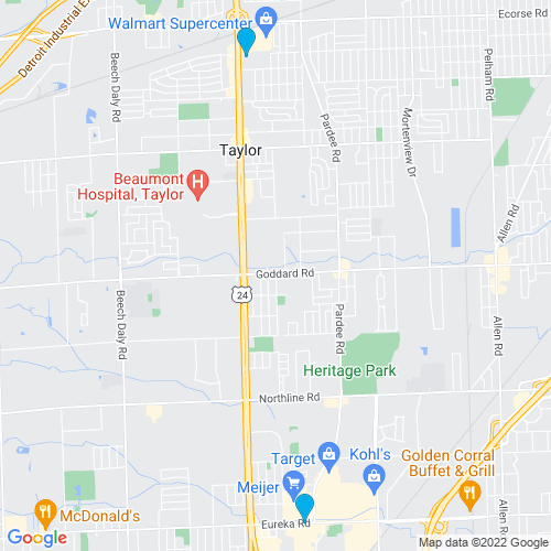 Map of Taylor, MI