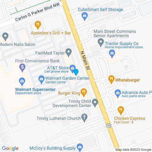 Map of Taylor, TX