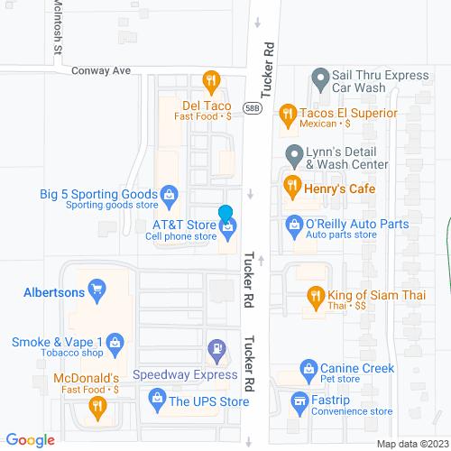 Map of Tehachapi, CA