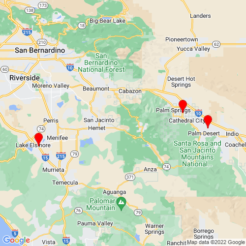 Map of Thermal, CA