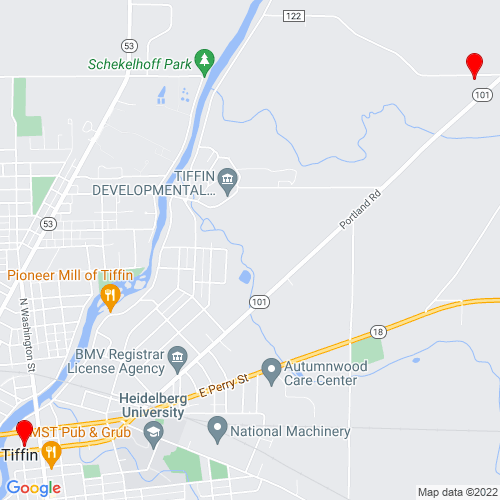Map of Tiffin, OH