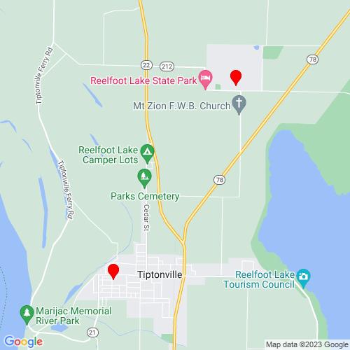 Map of Tiptonville, TN