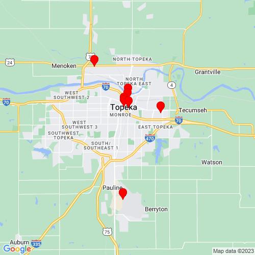 Map of Topeka, KS