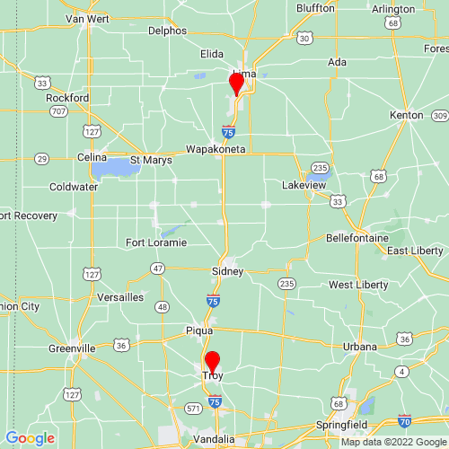 Map of Troy, OH
