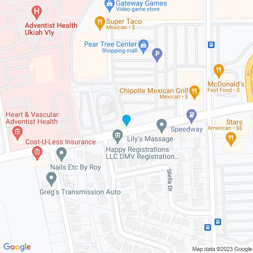 Map of Ukiah, CA