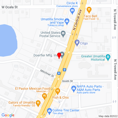 Map of Umatilla, FL