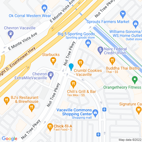 Map of Vacaville, CA
