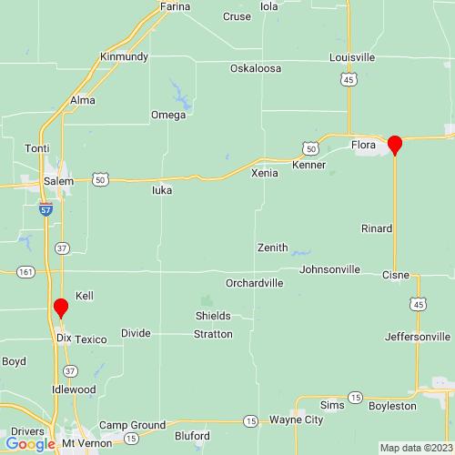 Map of Vandalia, IL