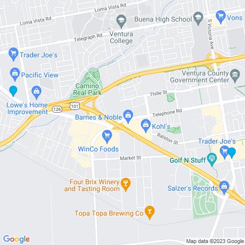 Map of Ventura, CA