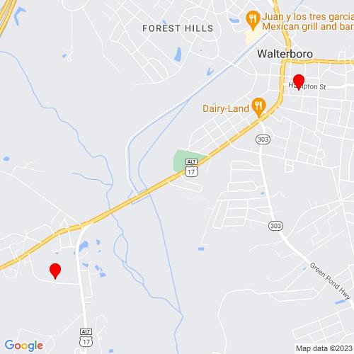 Map of Walterboro, SC