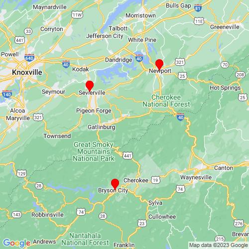Map of Waynesville, NC