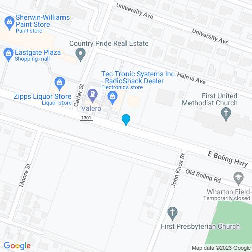 Map of Wharton, TX