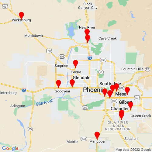 Map of Wickenburg, AZ