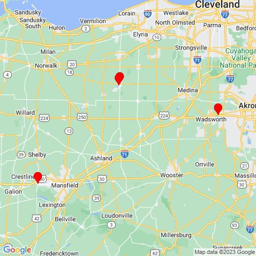 Map of Willard, OH