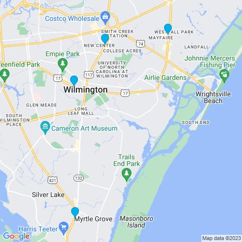 Map of Wilmington, NC