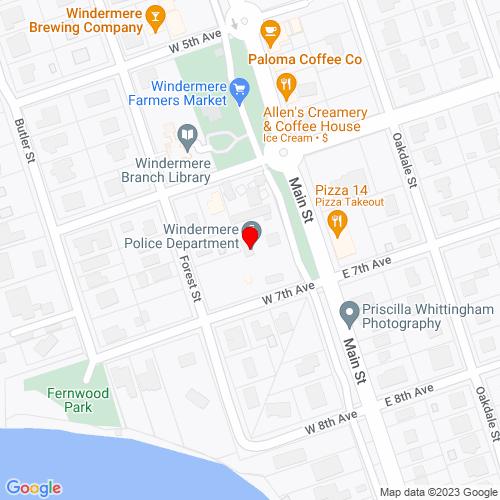 Map of Windermere, FL