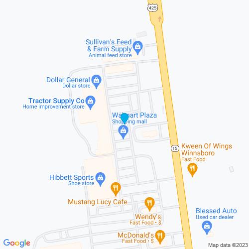 Map of Winnsboro, LA