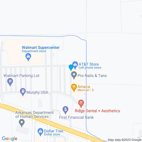 Map of Wynne, AR