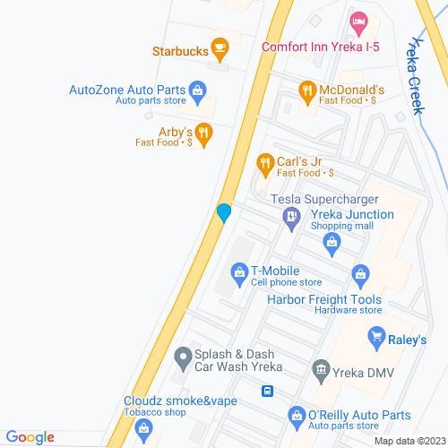 Map of Yreka, CA