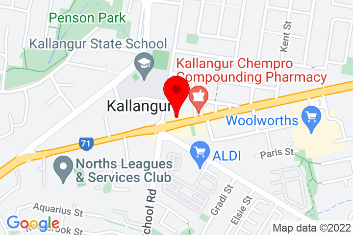 Map of 1392+Anzac+Ave,+Kallangur+QLD+4503