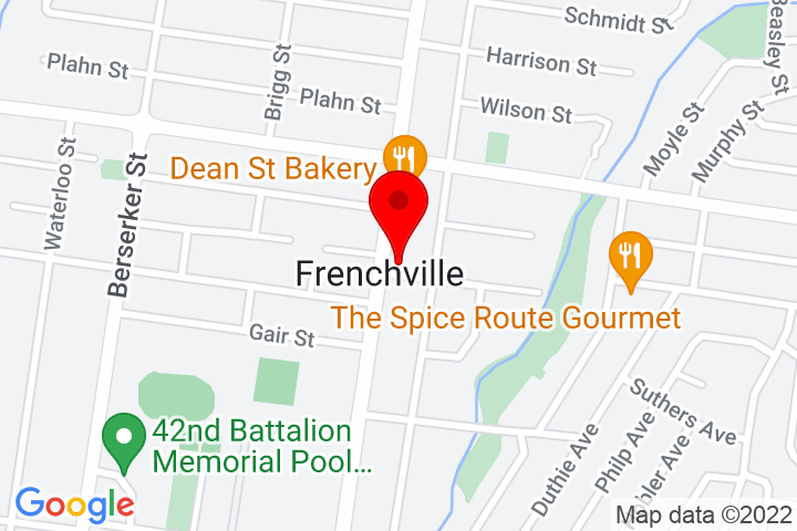 Map of 384+Dean+Street,+Frenchville+QLD+4701