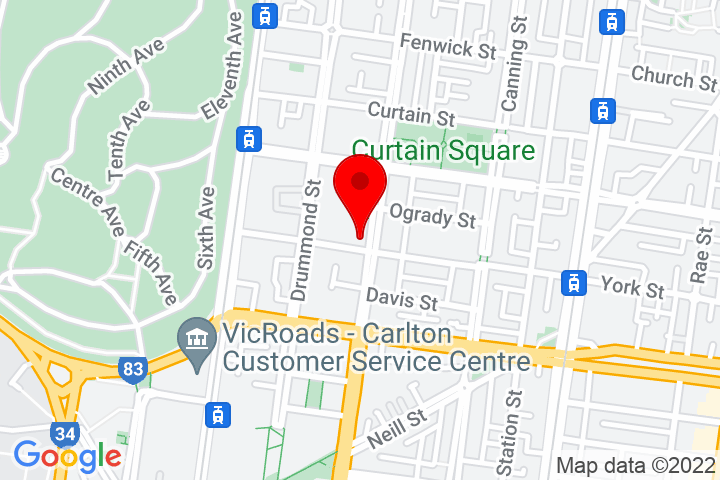 Map of 603+Rathdowne+Street,+Carlton+North+3054