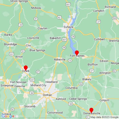 Map of Abbeville, AL